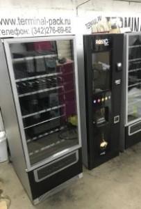 Комбинированный торговый автомат (кофейный и снековый) Rosso touch и foodbox slave